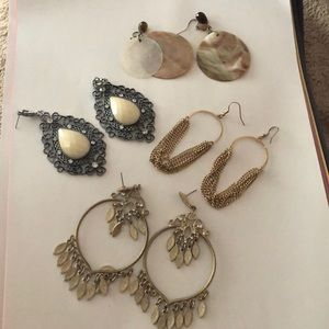 Jewelry - 3 PRs earrings-BUNDLED!  All for $8 or $4 each